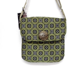 Hip Purse,  Messenger Style, Upholstery Fabric