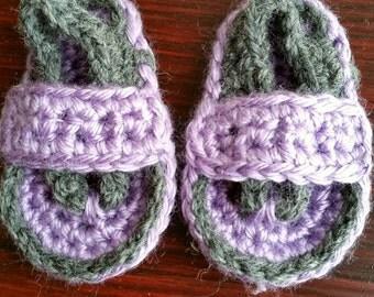 Newborn flip flops Baby Booties Crochet Baby flip flops