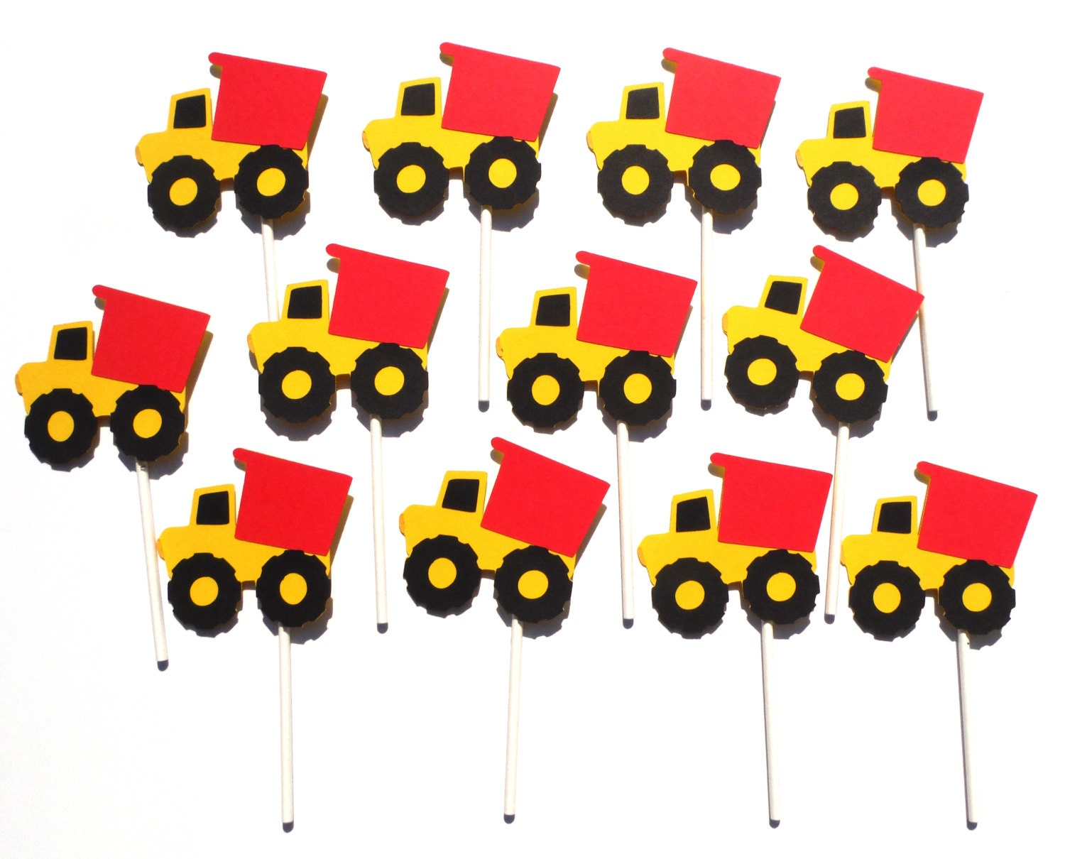 12 Dump Truck Cupcake Toppers Birthday Party Construction