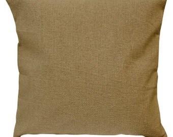 Choose Your Cushion Cover, Decorative Cotton Burlap Pillow Cover Cushions - Cotton Burlap Pillow Cover - 16 x 16 Accent Cushion