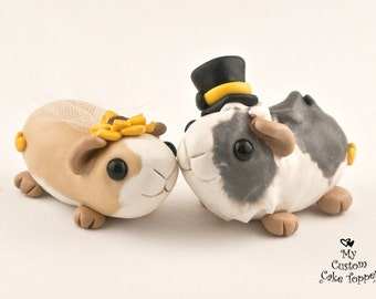 Guinea Pigs Wedding Cake Topper