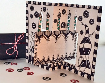 Tangle Your Own - Birthday Card