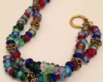 Braided glass bracelet