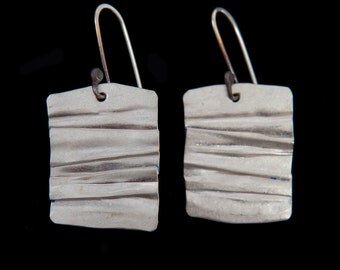 Continental Divide Earrings in Silver