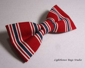 Bow Tie- Red, White & Blue Striped