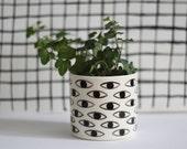 Eye Pot - Ceramic Vase - container / cache-pot