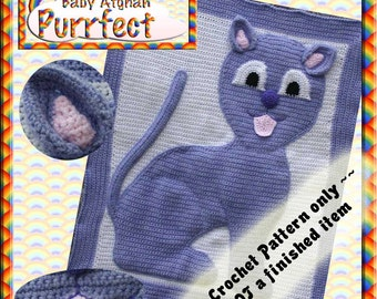 PDF Crochet Pattern Purrfect Baby Afghan