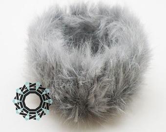 Fur bracelet (grey)