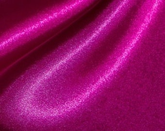 One yard of magenta fuchsia Poly Silk Satin fabric