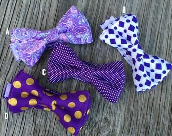 Purple Bow Ties - Lavender Ties - Lavender Bow Ties - Lavender Paisley Ties - Purple and Gold Ties - Ties for Boys - Groomsmen Ties - Bowtie