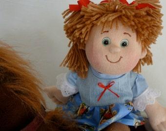 Rag doll, handmade ragdoll, custom soft sculptured dolls, fabric doll, cloth doll, Western cowgirl doll, handmade baby dolls, Christmas gift