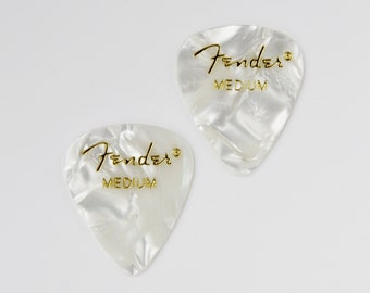White Guitar Pick Cufflinks - Men's Accessories - Handmade - Gift Box Included