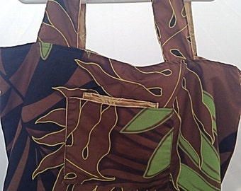 1/2 off! ON SALE! The Everyday Bag- An Oversized, Reversible, Hawaiian Tote bag