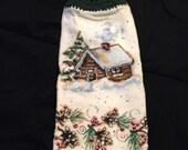 Crochet Top Hand Towel-Winter House