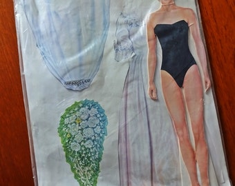 Princess Diana: Diana The ROYAL BRIDE - Paper Doll Cut Out, Dress- up 1995