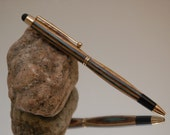Handmade Tablet Stylus Pen, 24 kt Gold Plating with Yellow and Blue Color Wood