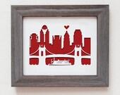 Cincinnati, Ohio.  Personalized gift, wedding gift