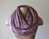 MAROON Chunky Scarf - Marled Cabernet Infinity Scarf - Cozy Speckled Oversized Scarf for Women
