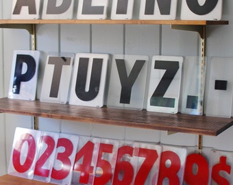 Plastic / Acrylic Sign Board Numbers & Alphabet