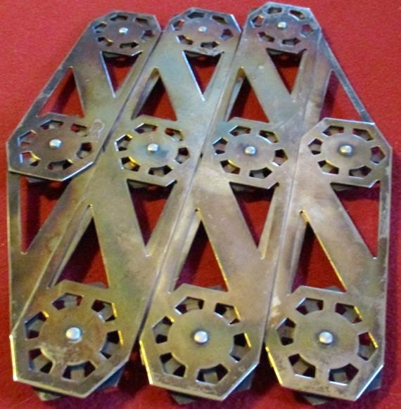 Vintage Trivet Expandable Silverplate Metal Hot Dish Server