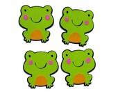 Adorable frog die cuts - 4 dies (2 in.) - you choose the colors (C6)