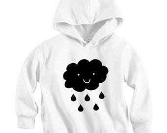 Raining Cloud - Long sleeve Hoodie Shirt (Baby / Infant / Toddler / Children's)