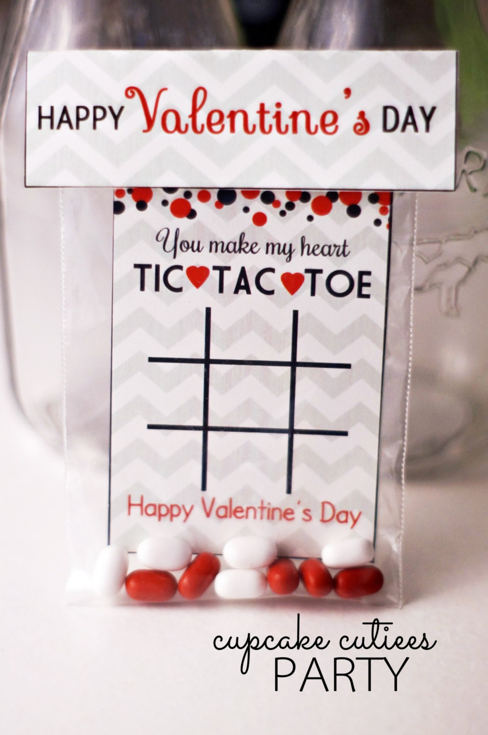 Playful image for valentine tic tac toe printable