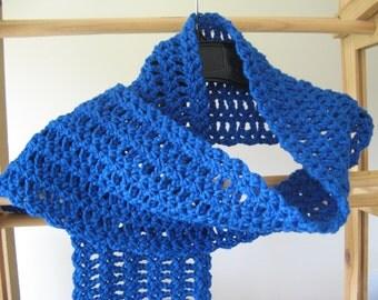 Crochet Scarf - Blue