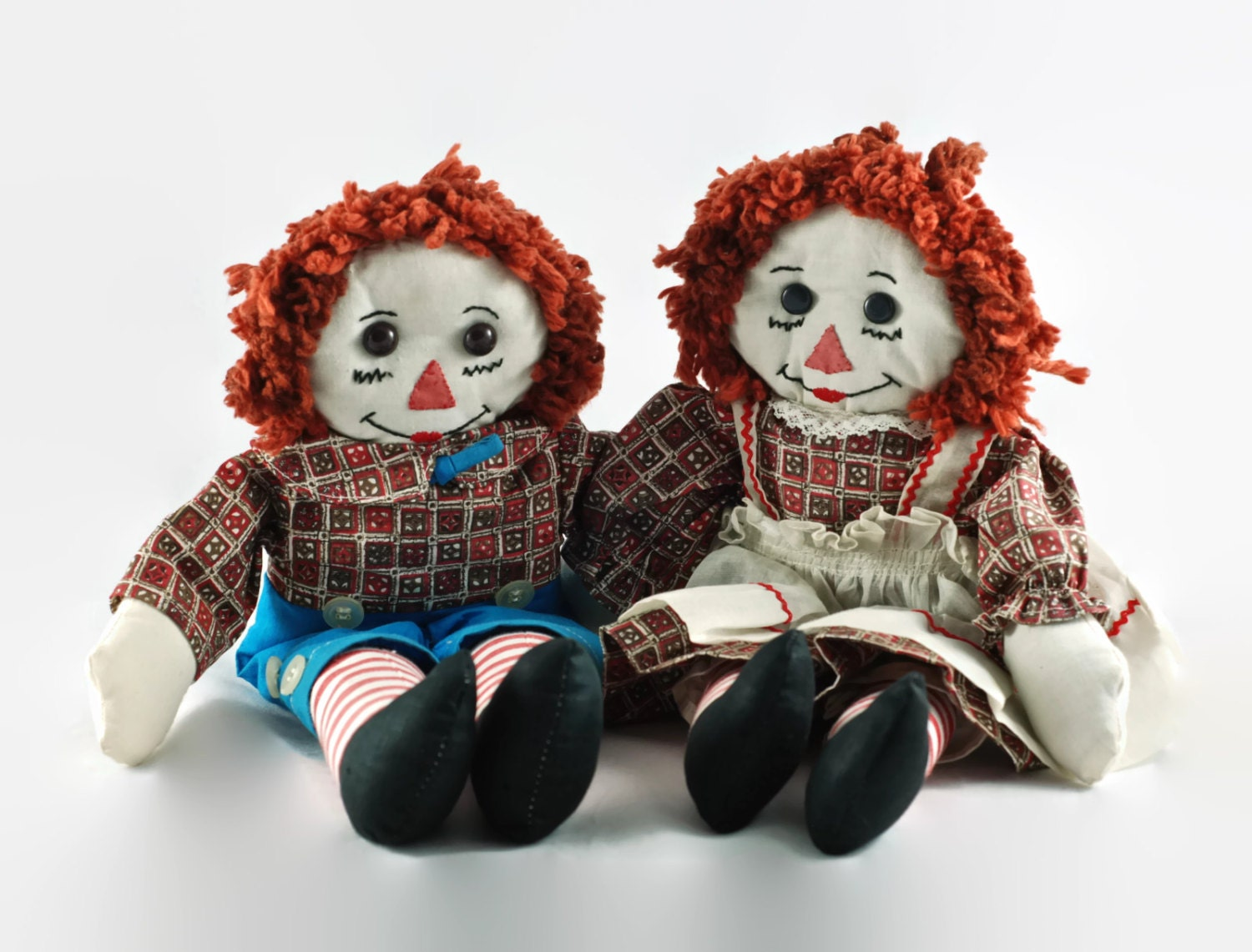 Vintage Raggedy Ann And Andy Dolls 17