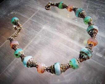 Multi Color Vintage Style Bracelet