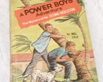 A Power Boys Adventure The Mystery of the Flying Skeleton by Mel Lyle Vintage Book