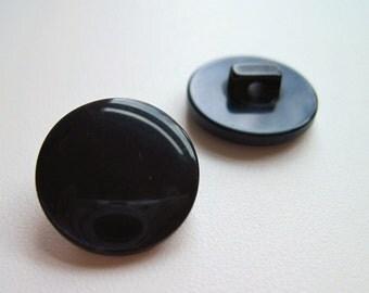 Black dress buttons, Pearly black buttons, black blouse buttons, glossy pearl buttons, shank buttons black, UK button shop, UK haberdashery