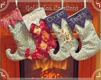 Curly Toe Christmas Stockings Personalized Custom Order Item Only