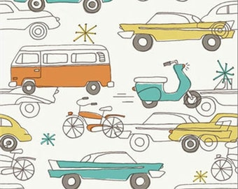 Circa 52 - Cars - Organic Cotton Fabric by Monaluna from Birch Fabrics