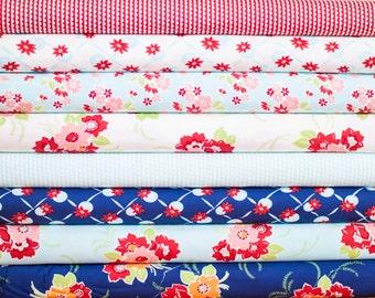 Miss Kate from Moda Fabric Bundle - Half Yard Bundle - 8 half yard pieces (B321)
