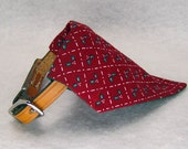Dog Collar Bandana, Dog Bandana, Slide On Bandana, Christmas Red Holly, X-SMALL