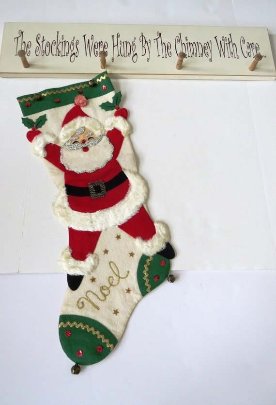 Items Similar To Sale Vintage Christmas Stocking Extra