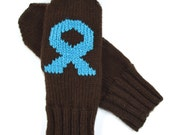 Cancer Awareness Mittens - Embroidered Ribbons - Free Shipping
