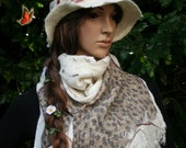 """Scarf white - """"On the other side of the Atlantic"""" RESERVE ANGIE"""