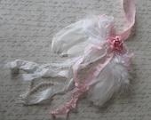 White angel wings feather angel wings shabby pink angel wings cherub Valentine shabby nursery Christmas angel wings romantic home mini wings
