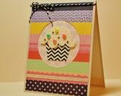 Cupcake Birthday Card, Handmade Cupcake Card, Cupcake Card, Girlfriend Birthday Card, Daughter Birthday, Sweet Birthday, Make a Wish, Modern