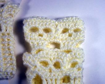 Creepy Skull Fingerless Gloves,Arm Warmers,Cuffs,Hand Crocheted