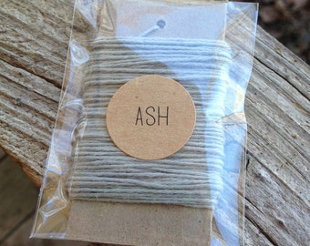 10 Yards - Solid  Baker's  Twine / String • 100% Cotton • Eco Friendly • Gift Wrap • Bakery String  • Ash