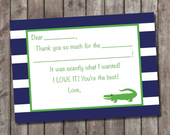 Alligator Fill In Thank You Cards