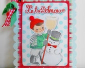 SALE Retro Inspired Christmas Mini Notebook