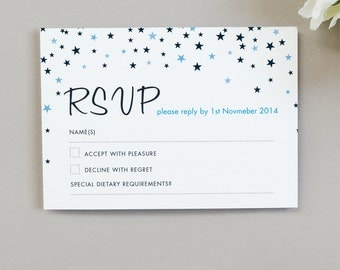 25 x Bella RSVP cards