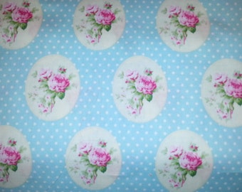 Beautiful Sunshine roses print, old time rose by Tanya Whelan for Free Spirit Westminster PWTW069 1/2 or 1 yard cotton quilt fabric