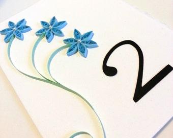 Wedding Table Number, Blue Wedding Decor, Wedding Table Decoration