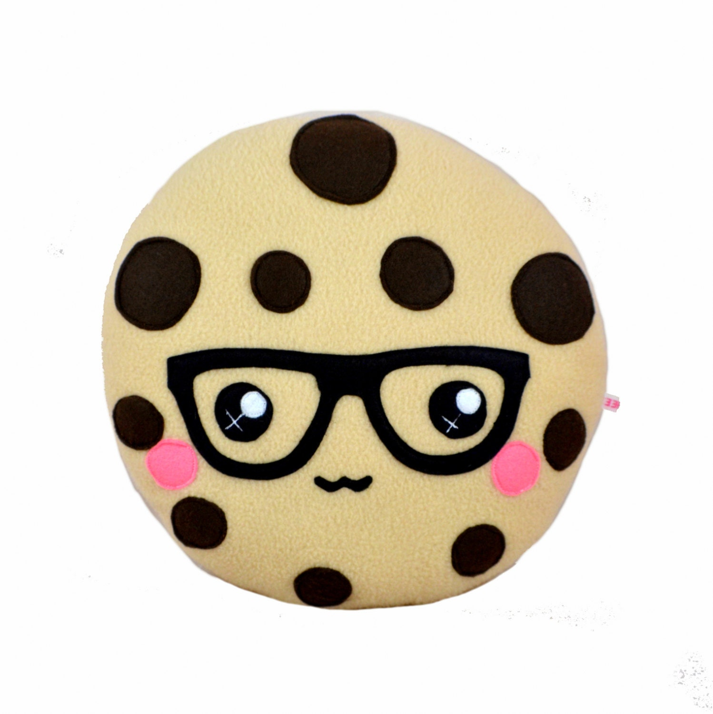 Kawaii cookie plush toy cushion cute chocolate chip cookie