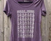 Ukulele Chords // Women's Tee Shirt